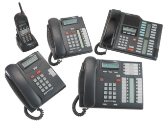 Picture of multiple Nortel phone models